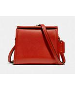 Coach mini turnlock shoulder bag Leather Crossbody ~NWT~ Orange 874 - $193.05