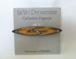 Vintage Catherine Popesco La Vie Parisienne Enamel Brooch Pin Art Deco C... - $39.59