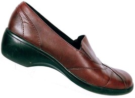 Clarks Women's 84631 Burgundy Leather Slip On Casual Loafer Shoes Size 8 M - $23.06