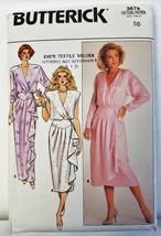 Butterick Vintage 3678 Pattern Evening Wrap Dress Size 8 - 16 UNCUT 1986 - $9.89