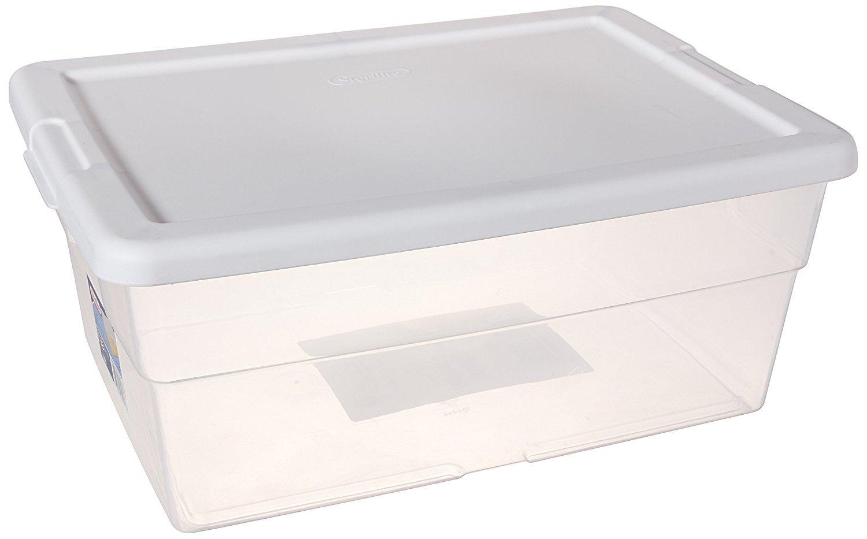 Sterilite 16 Quart Basic Clear Storage Box and 50 similar items