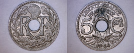 1924 French 5 Centimes World Coin - France - $5.99