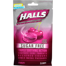 Halls Black Cherry Sugar Free Cough Drops - with Menthol - 300 Drops 12 ... - $24.31