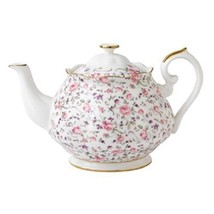Royal Albert Rose Confetti Formal Vintage Teapot NEW - $93.49