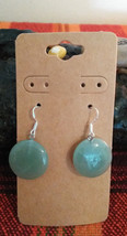 Natural Lucky Green Aventurine Earrings Earwires Marked 925 Sliver  Vale... - $9.41