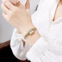 Vintage square small gold watch - $315.00