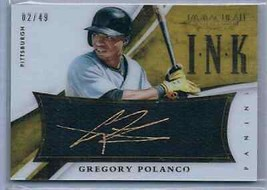 2015 Panini Immaculate Ink Gold Auto Gregory Polanco 2/49 #43 - $15.00
