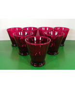 Anchor Hocking Royal Ruby Red Glass Liqueur Cordial Flared Tumbler (s) L... - $39.55