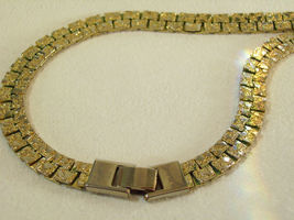 Gold NUGGET Style Link Necklace Plated Chain Vintage Classic Office Career image 8