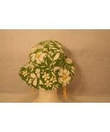 Janie & Jack Child Reversible Sun Hat Green daisy yellow polka dot w/adj... - $19.95