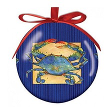 Cape Shore Blue Crab High Gloss Resin Hanging Ornament - $12.50