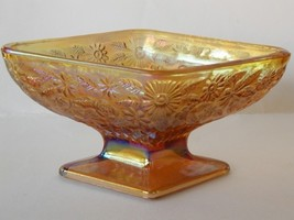 Indiana Glass Marigold Carnival Diamond Candy Dish Compote  - $30.00