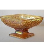 Indiana Glass Marigold Carnival Diamond Candy Dish Compote  - $20.00