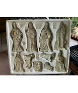 Crown Accents 10 Piece IVORY with GOLD ACCENTS NATIVITY SET  - $55.00