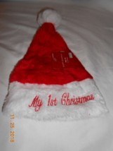 New My First Christmas Stocking Hat cap red & white baby toddler - $6.92