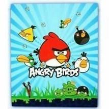 Rovio Angry Birds Plush Throw Blanket Cartoon Bedroom Bedding Warm Soft ... - $17.88
