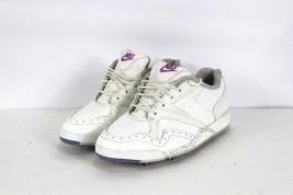 Vintage 90s Nike Womens Size 8 Mens 6.5 Speckled Leather Golf Shoes Whit... - $96.97