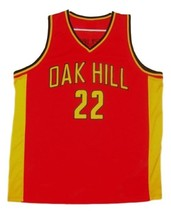 Carmelo Anthony Oak Hill Custom Basketball Jersey Sewn Red Any Size image 4