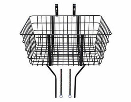 Pro+ Steel Wire Front Basket With Adjustable Braces Fit 20 to 29 Bikes T... - $63.02