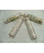 4 Rolls Pre pasted Border Wall paper White & Gold Leafs 4.5m (5 Yards) E... - $19.79