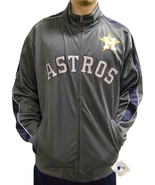 MLB Houston Astros Men's Big & Tall Full Zip Tricot Reflective Track Jacket - $34.95