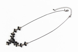 Avon Jet & Clear Collar Necklace Wedding Bridal Necklace Feminine Bridal Necklac - $32.95