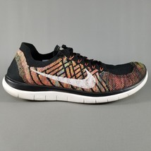 Nike Free 4.0 Flyknite Running Shoes Size 11.5 Men Athletic Sneakers Bla... - £38.16 GBP