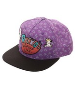 Rocko's Modern Life Embroidered Logo Snapback Hat Purple - $24.98