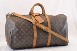 LOUIS VUITTON Monogram Keepall Bandouliere 55 Boston Bag LV Auth 6609 - $450.00