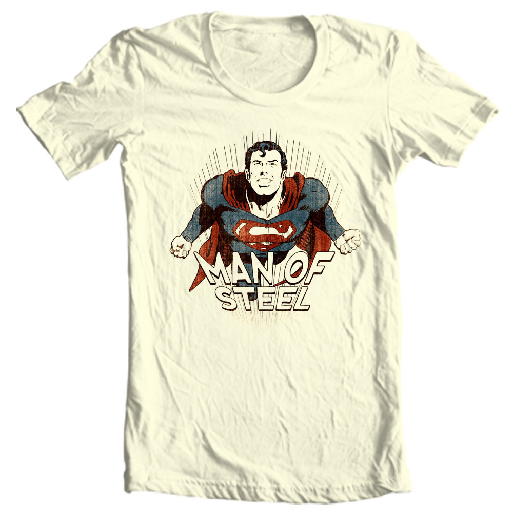 da8ad2013 Man of Steel Superman T-shirt Classic Golden Age DC comics graphic ...