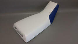 HONDA  ATC250R Seat Cover 1983 1984 2-TONE WHITE & BLUE or 25 COLORS (ST) - $34.95