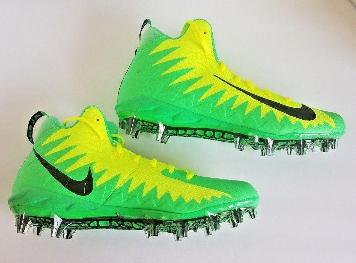 3db2be608 Nike Mens Alpha Menace Pro Football Cleats Volt Yellow Green 871451-337 Size  12