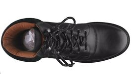 Hunter Mens Ross Black Genuine Leather Combat Ankle Lace Up Work Hiking Boots NW image 6