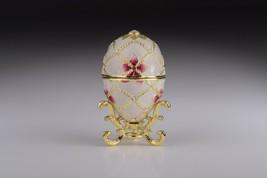 Faberge Egg & harp trinket box hand made by Keren Kopal & Austrian crystals  - $160.20
