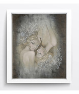 """Fantasy Decor Art""""Two sisters""""Oil Painting Print On Canvas No Framed - $18.99"""
