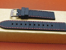 20mm Rubber dive quality stylish watch band stitched grained fits Invict... - $17.76