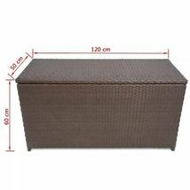vidaXL Garden Storage Chest Poly Rattan Bench Cabinet Box Organizer 2 Colors image 10