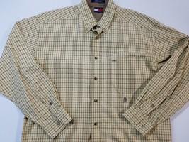 VINTAGE 90's Tommy Hilfiger Classic Crest Logo Button Down Shirt Mens Sz Large - $19.79