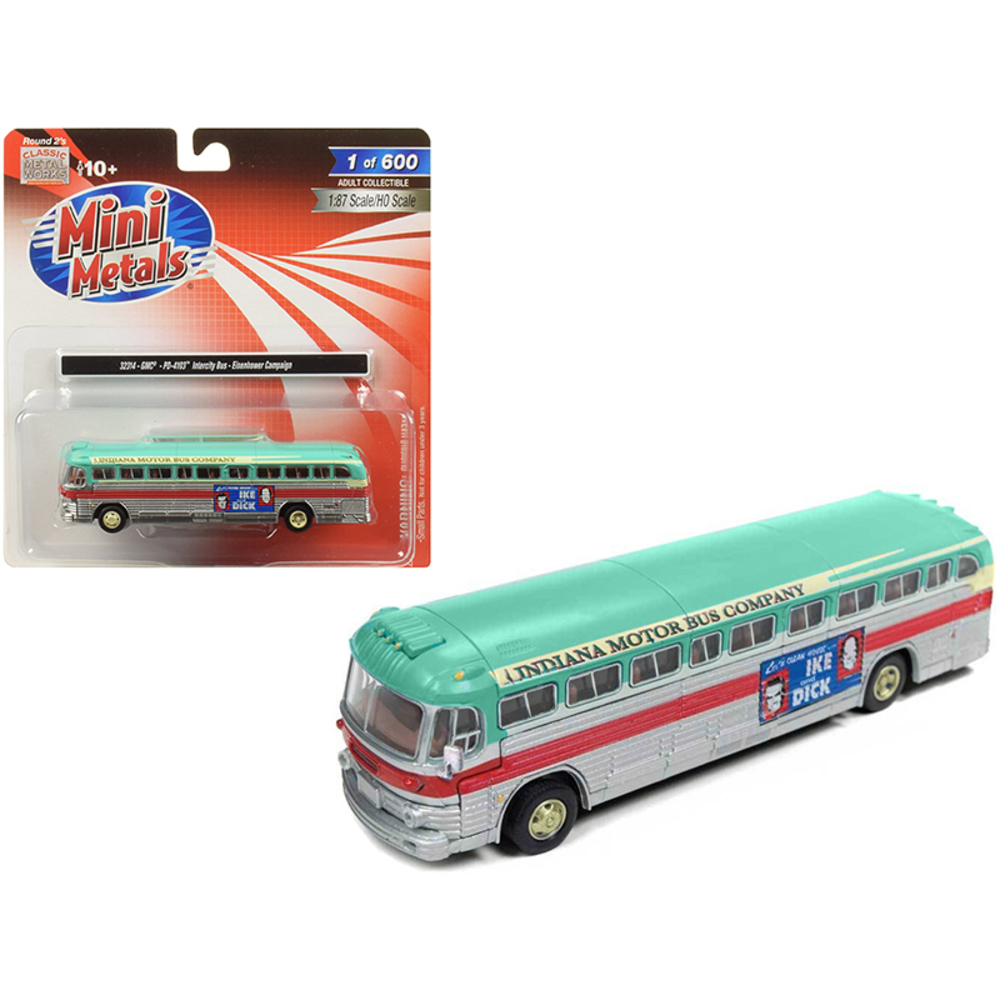 GMC PD-4103 Intercity Bus (Indiana Motor Bus Company) Eisenhower Campaign 1/87 (