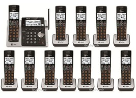 AT&T CL83213 12 Big Button Cordless Phones Answering Machine & Talking Caller ID - $368.45
