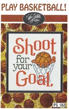 Play Basketball Post Stitches cross stitch chart Sue Hillis Design - $5.40