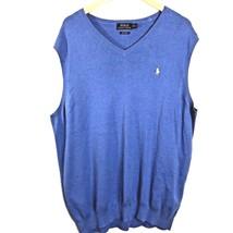 Polo Ralph Lauren Pima Cotton Sleeveless Sweater Vest Mens XL Tall XLT - $28.91