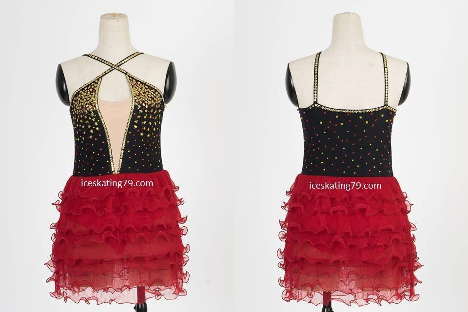 Hot sale IceSkating Dress Girls Custom Figure Skating Women Competition Red  IS