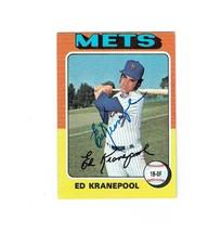 NEW YORK METS BASEBALL PLAYER ED KRANEPOOL ORIGINAL AUTOGRAPH ON BASEBAL... - $7.55