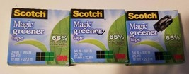 "3 Rolls 3M Scotch Matte Invisible Tape, 1"" Core, 3/4"" x 900"" each  - $4.90"