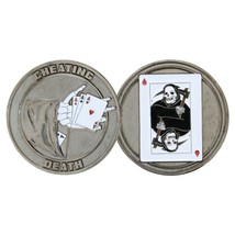 "CHEATING DEATH 1.75"" CHALLENGE COIN - $17.14"