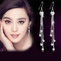 Fashion High Quality Ball Earrings Earrings Retro Long Tassel Earrings S... - $8.13