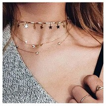 Catery Star Necklace Chocker Fashion Jewelry Accessories for Women and G... - $7.96