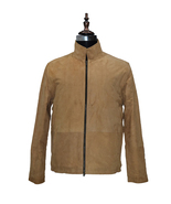 Men Brown Leather Jacket Suede Leather Jacket - $179.99