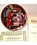 Knowles 1988 Classic Fairy Tales Little Red Riding Hood Collectors Plate - $17.33